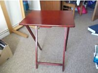 Three small wooden tables, good condition. Owner moving, £10 for three