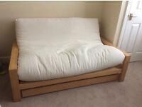 Stylish double futon/sofa-bed from the Futon Company, great condition