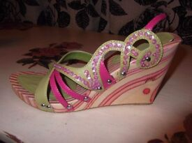 Stunning wedge sandals size 6