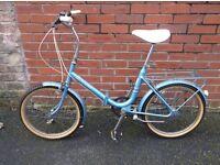 unisex raleigh folding bike