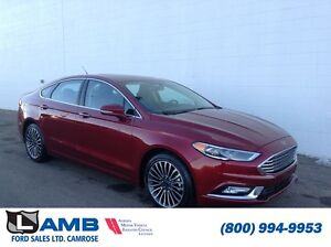 2017 Ford Fusion Titanium 300A AWD 2.0L Ecoboost Navigation Moon