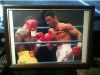 Signed Michael Watson framed picture