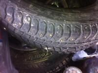16inch steelies with studded retreads from grand am
