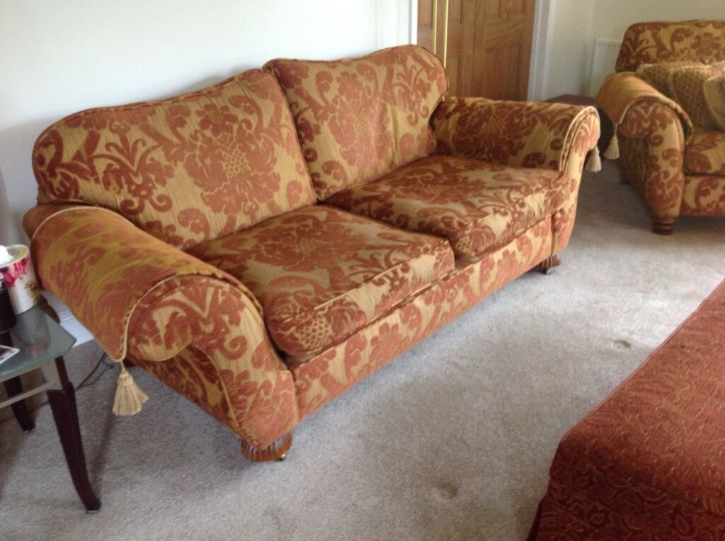Large 3 Seater Sofa Amp Chair Peter Guild In Very Good