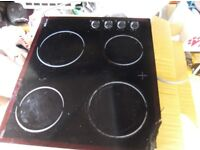 Proline ceramic hob all working damage to glass all elements work spares or repair