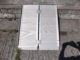 Strong Aluminium ramp size 92cm long x 73cm wide