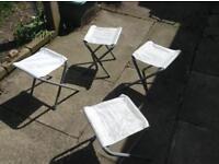 Camping stools x 4