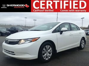 2012 Honda Civic LX | BLUETOOTH | CRUISE | AUX/USB | AC