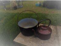 Enamel Pot & Kettle