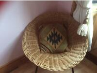 Contemporary wicker chair