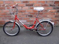 ladies folding bike 1970