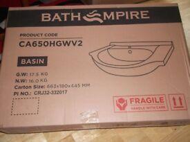 White Vanity Basin Product No CA650HGWV2