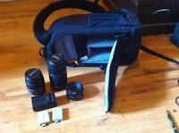 Sac de transport caméra/ lentilles Canon/ chargeur et piles