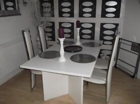 Large White Dining Table...Seats 6