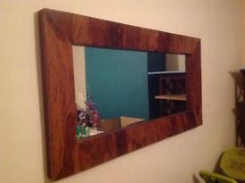 Harvey's Sheesham Wood Mirror