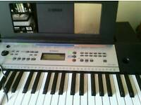 Yamaha Electric keyboard, stand and seat