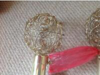 3m brass curtain poles with filigree ends