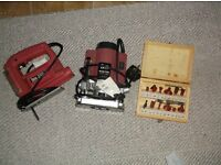 Jig saw and Router plus Router bits
