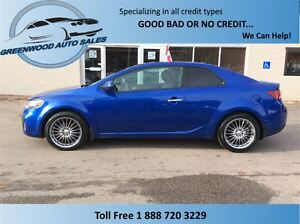 2011 Kia Forte Koup 2.4L SX Luxury, LEATHER, SUN ROOF, FOOSE RIM