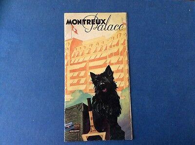 Montreaux Palace Vintage Brochure