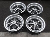 Ford cortina 1600E deep dish 5.5 x 13 chrome rosytle wheels capri corsair anglia escort vgc