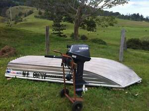 Cartopper tinny + yamaha outboard Tyalgum Tweed Heads Area Preview