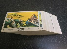 Set of 66 Tarzan cards issued by Anglo in 1966..