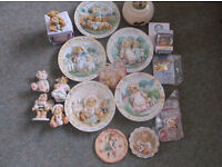 Large Collection of Cherished Teddy Nursery Plates and more
