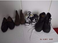 Assortment of shoes. individual bargain prices