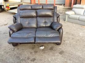 Harvey's brown Leather Reclining 3+2 seater sofa set EX display model