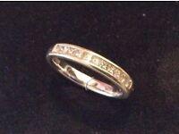 18ct White gold, 0.50ct (Size N) Diamond Wedding Ring