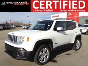 2017 Jeep Renegade Limited 4X4|REMOTE START|NAV|HEATED STEERING+