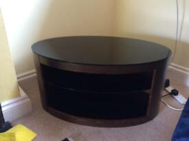 Oval tv cabinet