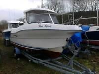 Quicksilver 580 pilot house boat