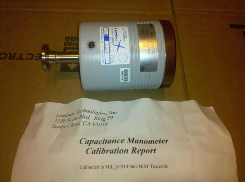623A11TDE MKS Baratron -Certified Calibrated