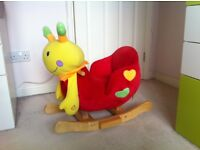Lovely Babylo Emily snail baby rocker with music