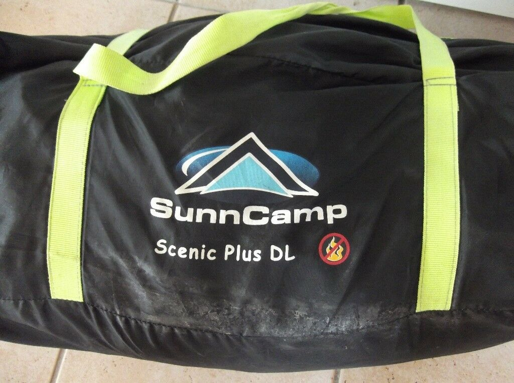 Sunncamp Scenic Plus DL Porch Awning Clean And Ready To Go With Extra Skirt Wheel