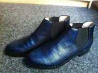NEW BOOTS Faux snakeskin Dark blue S5.5