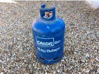 Empty gas bottle. Calor, Butane, 15kg