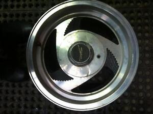 "4 - Chevy S10/GMC S15 15""Alloy Aftermarket Rims with Center Caps"