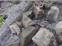 Sandstone Rockery Stones - Mixed Sizes (3)