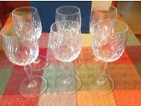 6 x crystal wine glasses 135ml