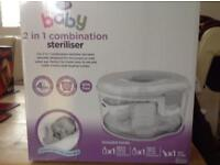 Boots baby 2 in 1 combination steriliser