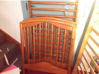 MAMAS & PAPAS WOODEN COT(FUNDS TO CANCER SUPPORT)