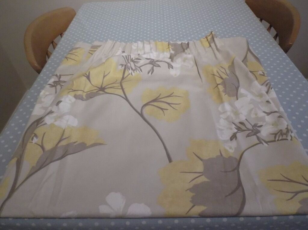 Laura Ashley Millwood Camomile Ready Made Curtains In
