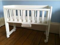 Troll bedside cot / crib with mattress