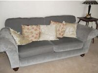 3 Seater sofa and two chairs (Kirkdale Oxford style) excellent condition