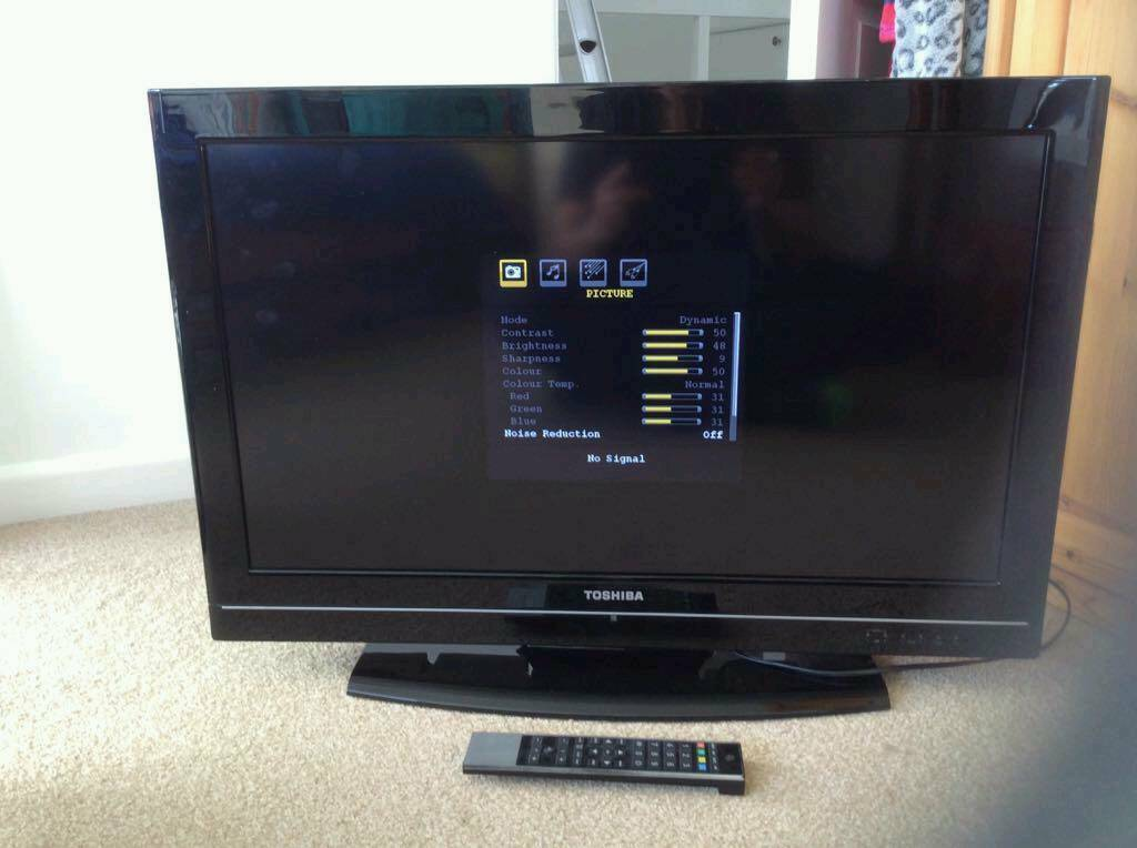 32 inch LCD tv with built in free view and remote  HDMI tested with