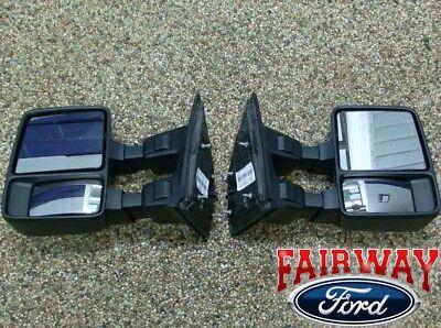 08 thru 16 Super Duty F250 F350 OEM Ford FULL Manual Trailer Tow Mirrors (pair)