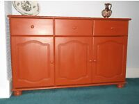 Small painted sideboard, lightweight, ideal storage